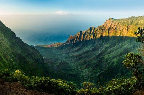 One of many vantage points in the Kalalau Valley, Kauai