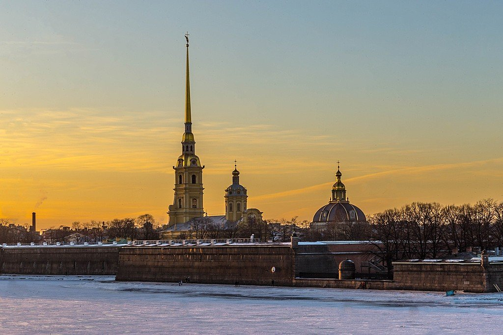 Sunsetting over St. Petersburg