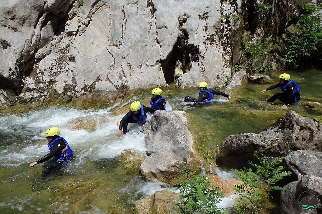 Canyoning down the Cetina River outside of Omiš