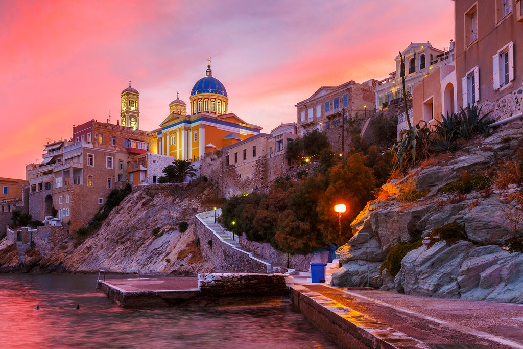 Sunset on the Amazing Island of Syros