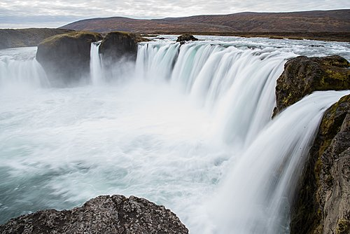 Godafoss waterfall in the north