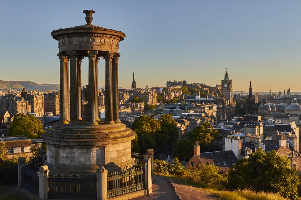 Catch a sunset over historic Edinburgh