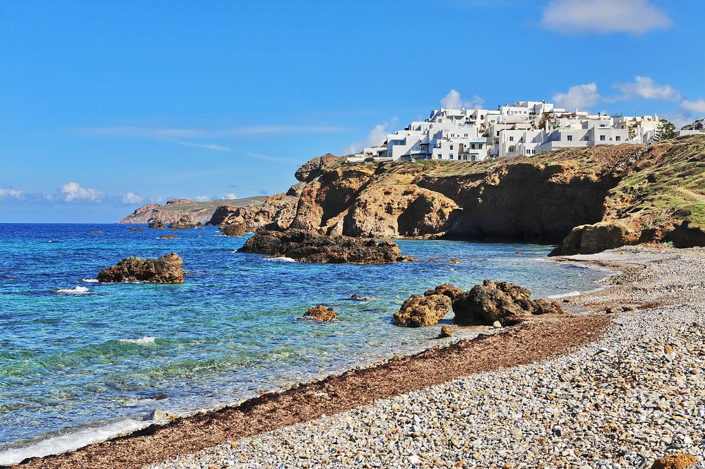 Naxos town from Saint Prokopios beach