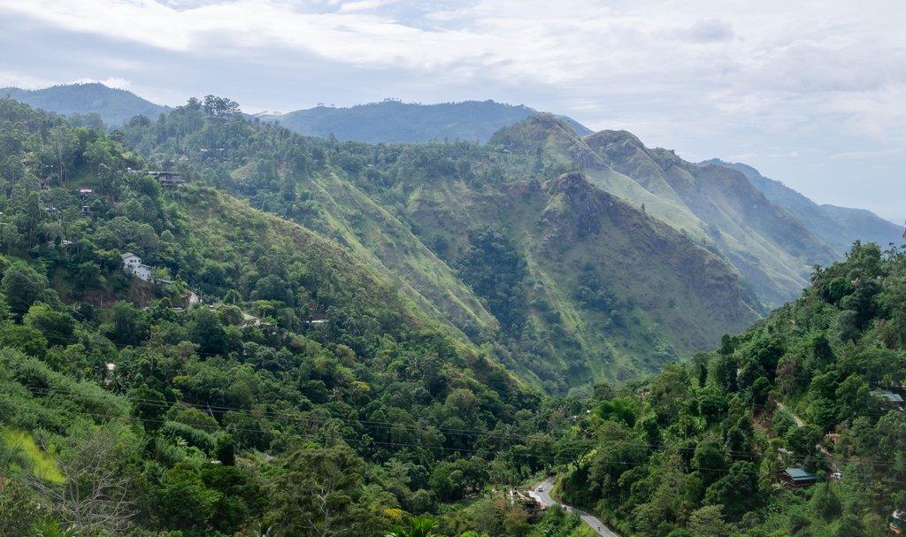 The view from Little Adam's Peak near Ella, Sri Lanka