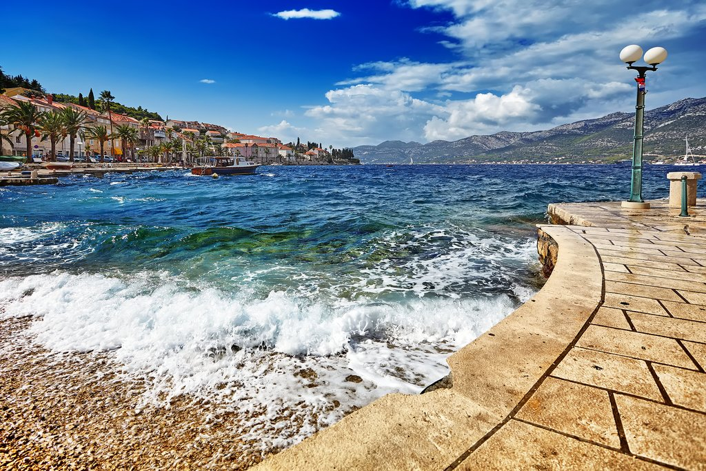 The Adriatic Sea from Korčula Town's waterfront