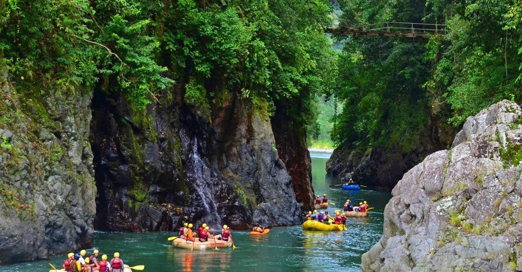 Scenic canyon along the Pacuare River