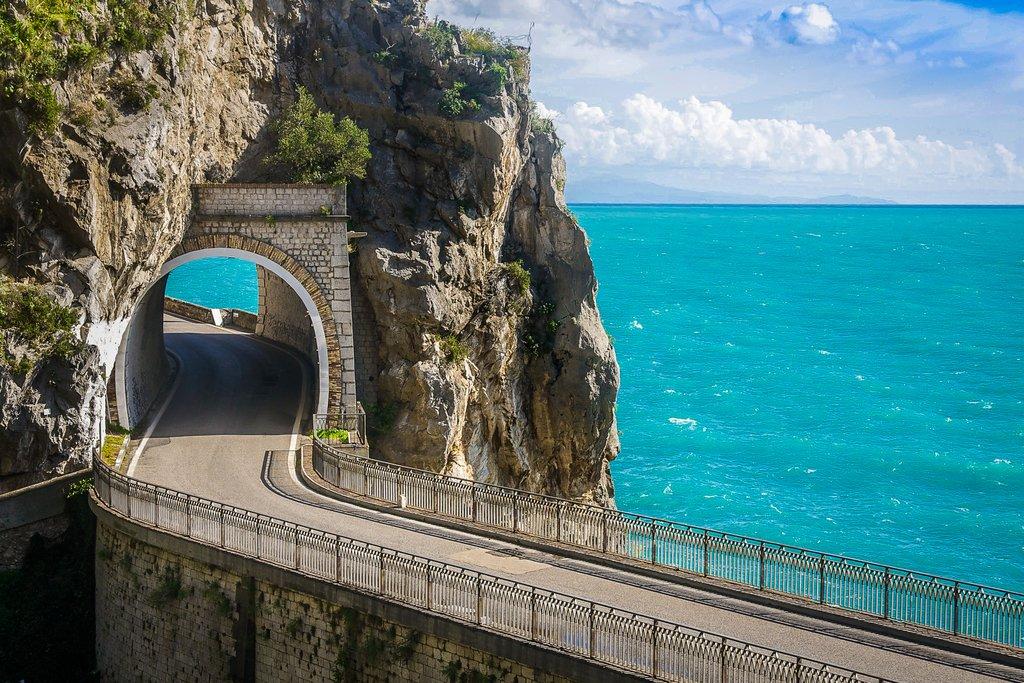 Big sea views on the scenic Amalfi Coast road