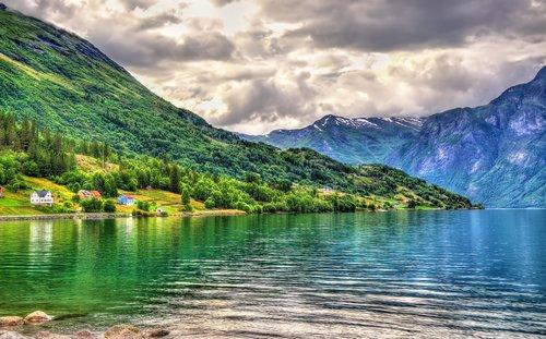 The Nordfjord between Ålesund and Bergen.