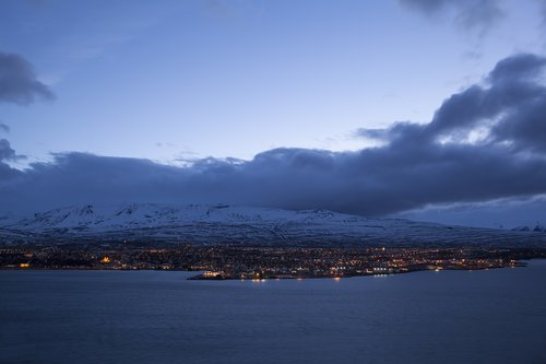 Akureyri at Night