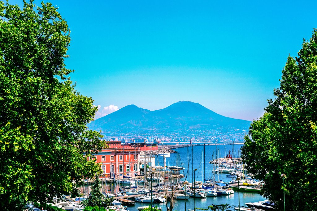 Mt. Vesuvius from Naples Bay