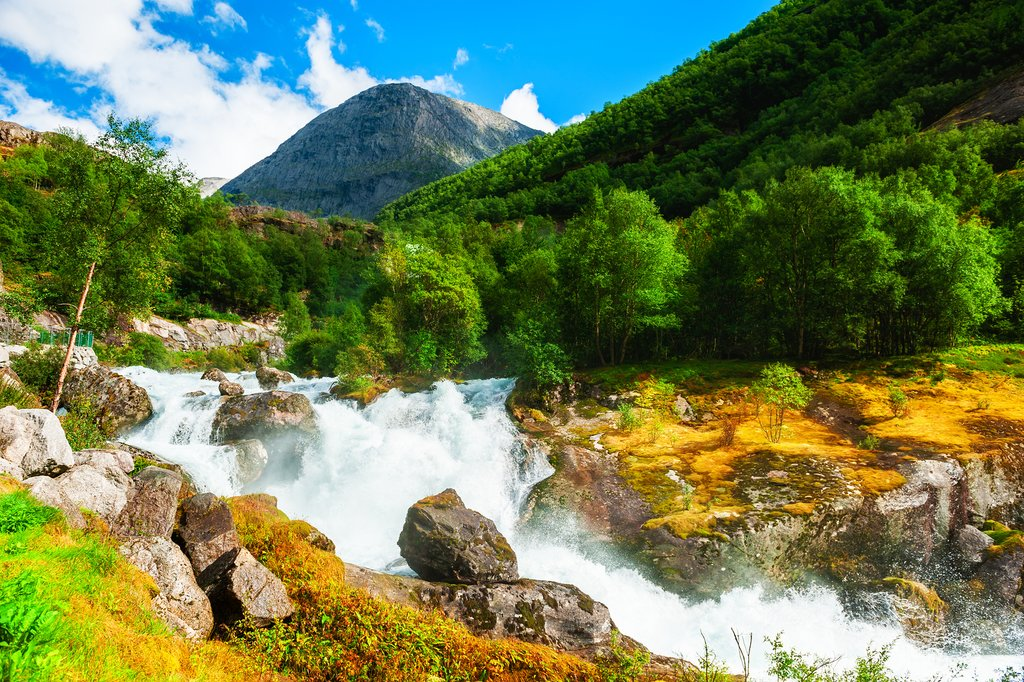 Sail through the Geirangerfjord and get up close to waterfalls