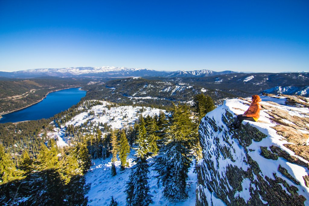 View of Donner Lake from Donner Peak