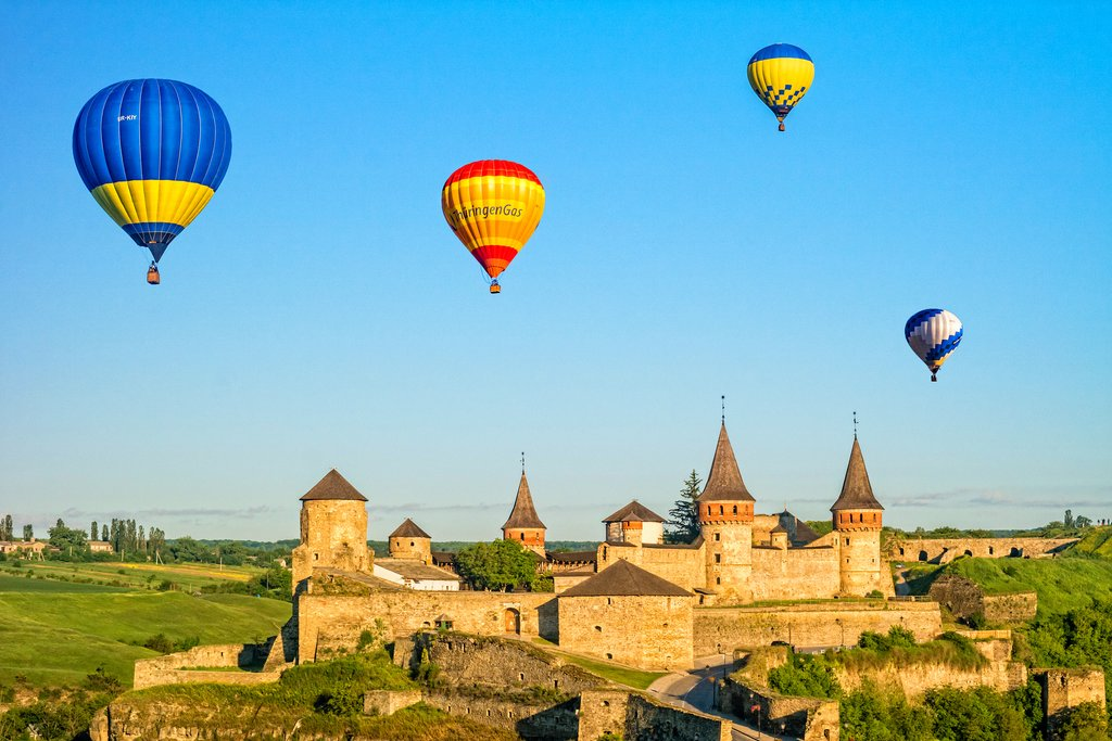 Take a ride over Kamianets-Podilskyi Castle