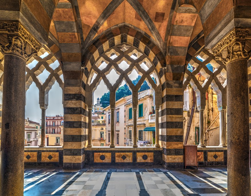 Church Interior on the Amalfi Coast