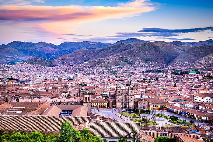 The ancient city of Cusco, center of the Inca Empire