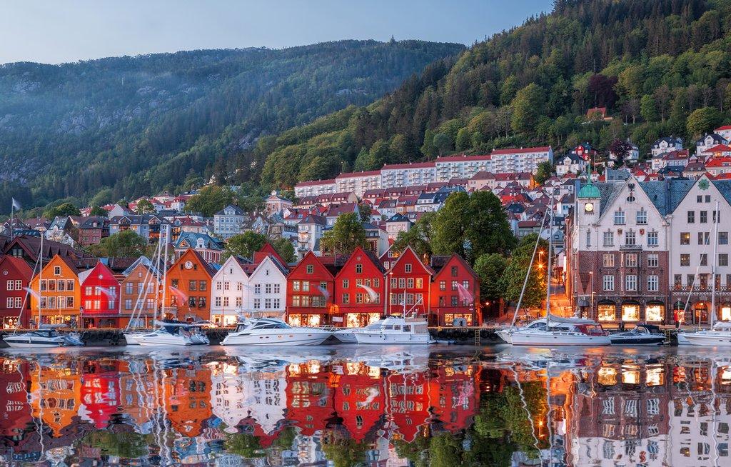 Bergen's historic district of Bryggen