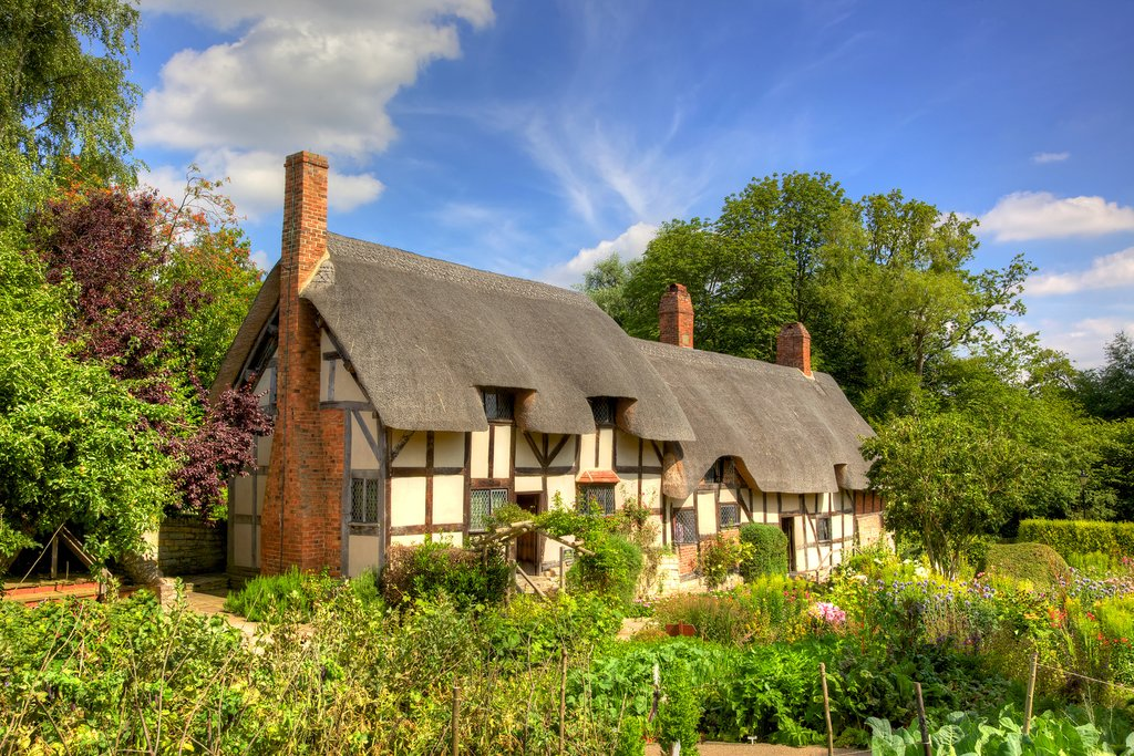 Shakespeare's wife, Anne Hathaway's, historical home outside of Stratford-upon-Avon