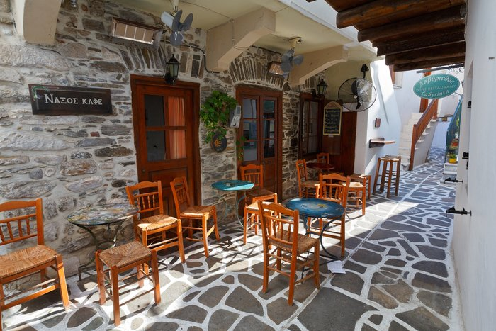 Cafe in Naxos town