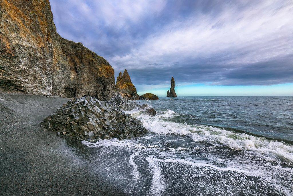 Reynisfjara Beach, along Iceland's South Coast
