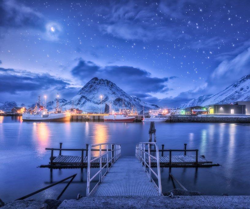 A fishing dock in the Lofoten Islands
