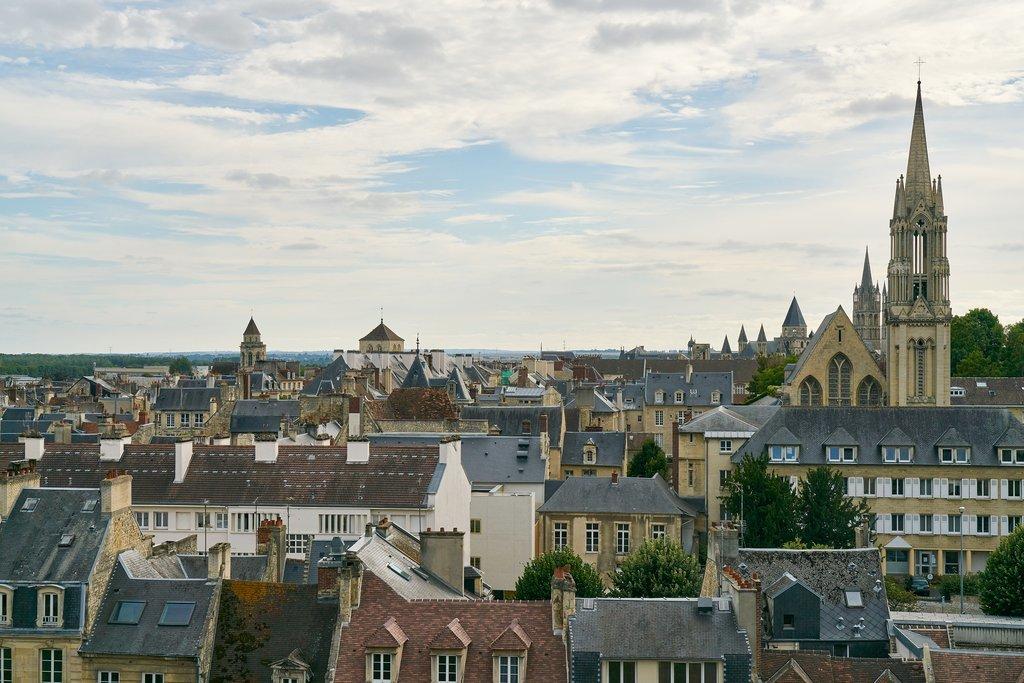 Caen city skyline