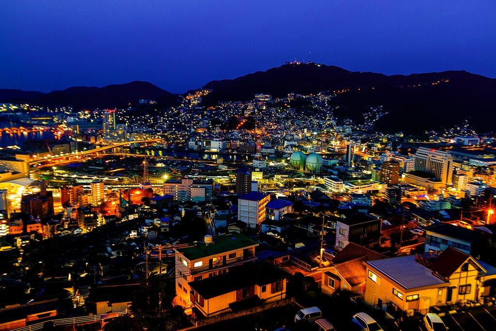 Evening view over Nagasaki