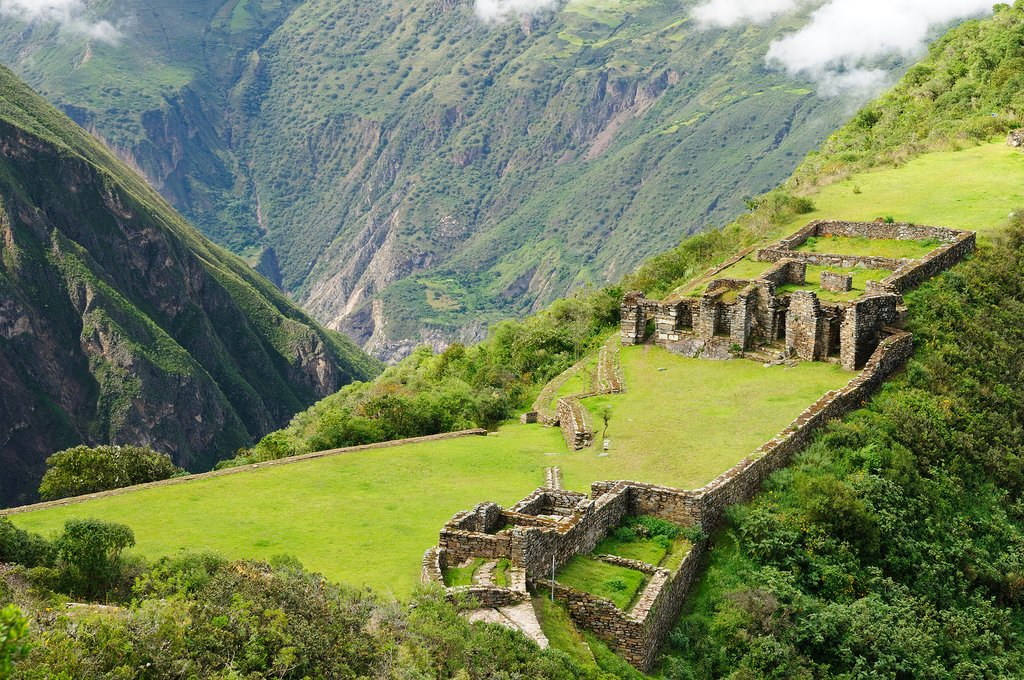 The spectacular Incan ruins of Choquequirao, reachable by two-day trek