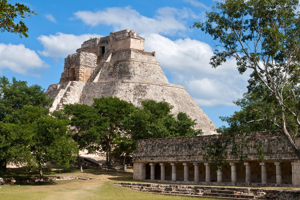 Discover the vast Mayan city of Uxmal on the Puuc Route