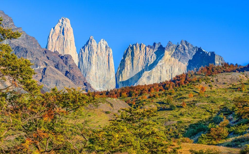 Famous peaks in Torres del Paine