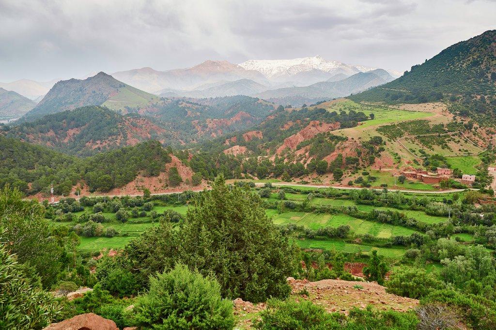 Tizi n'Tichka pass over the Atlas mountain range