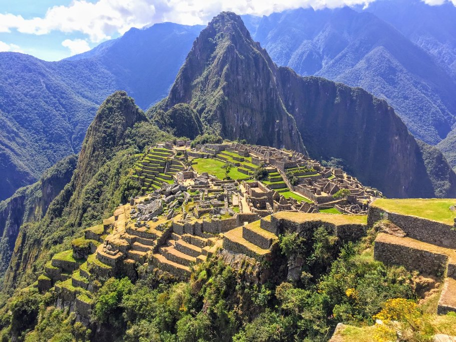 Machu Picchu awash with sunlight