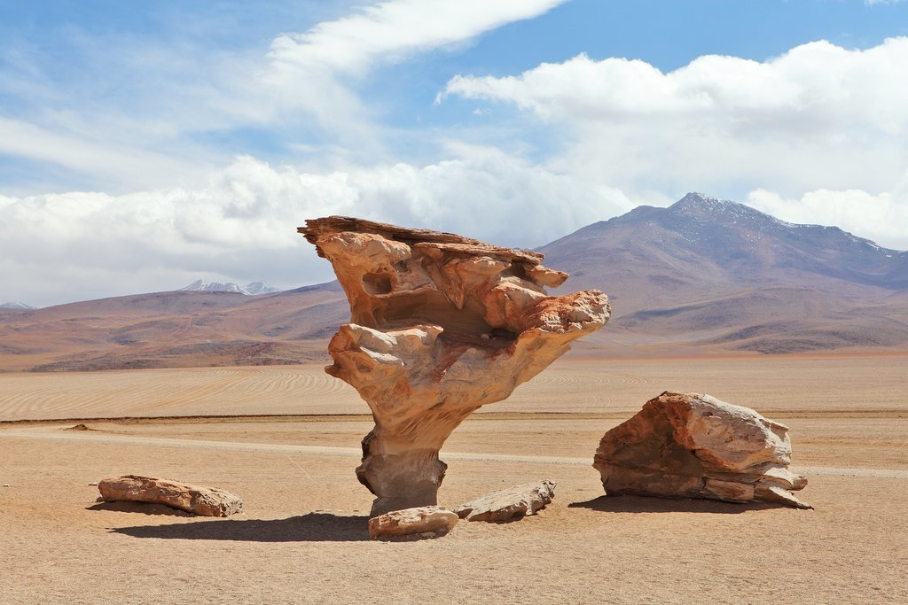 Arbol de Piedra, or Stone Tree,  in the Dalí Desert