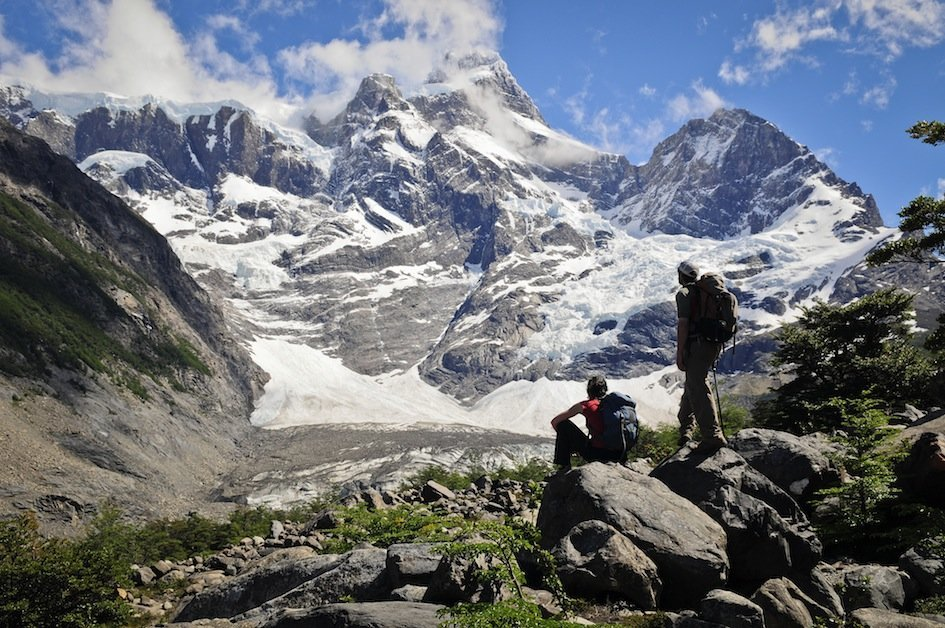 Trekkers enjoy exciting views in Patagonia
