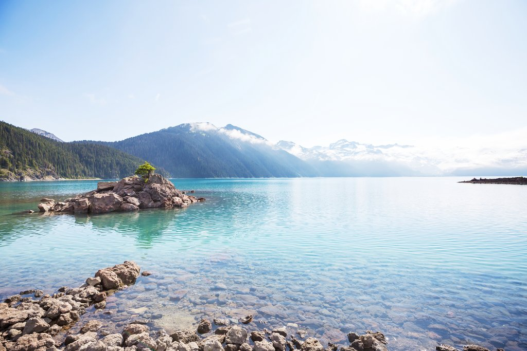 Turquoise waters of Garibaldi Lake near Whistler