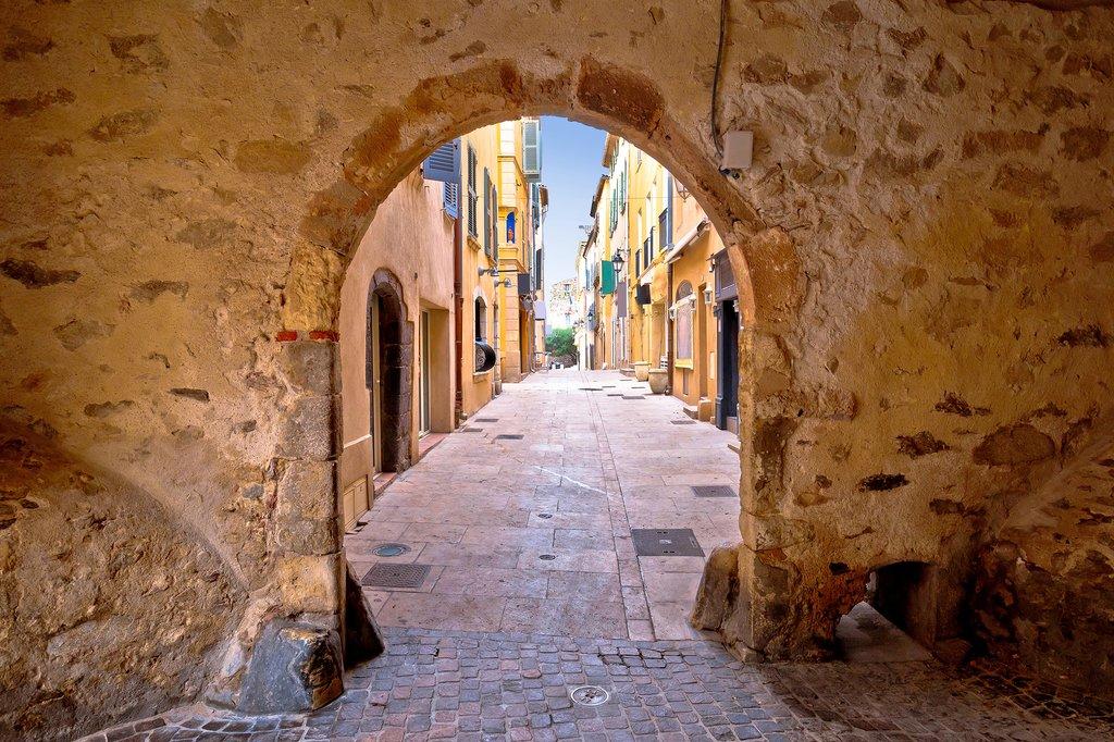 The historic town gate of Saint-Tropez