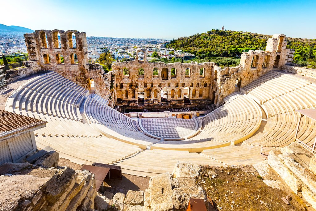 The amphitheater at the Acropolis, Athens