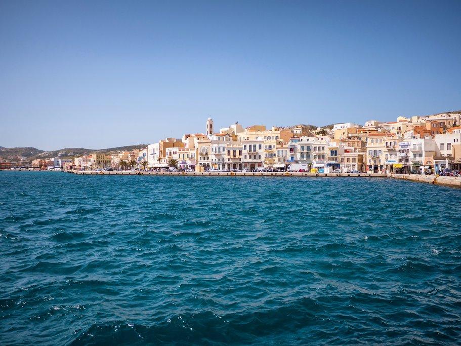 Syros town coast