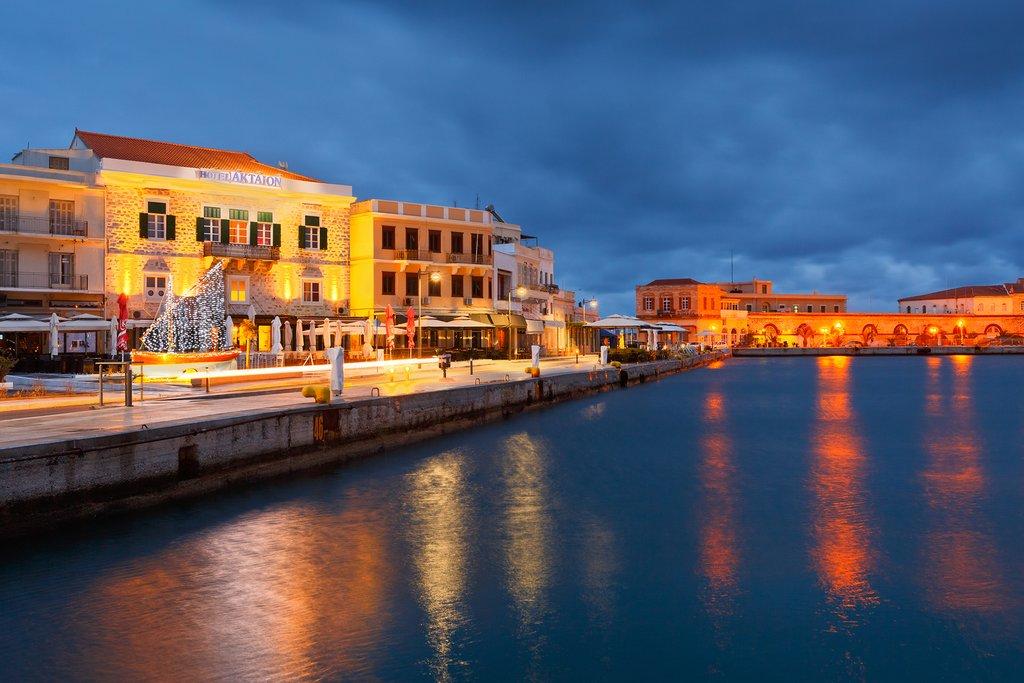 Ermoupoli waterfront on Syros