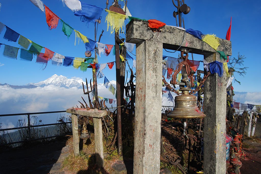 Kalinchowk temple with Gaurishankar in the background (Photo credit: Mads Mathiasen)