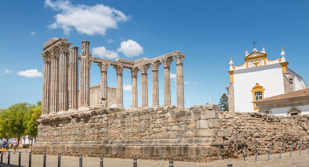 Roman Temple, UNESCO World Heritage Site in Évora