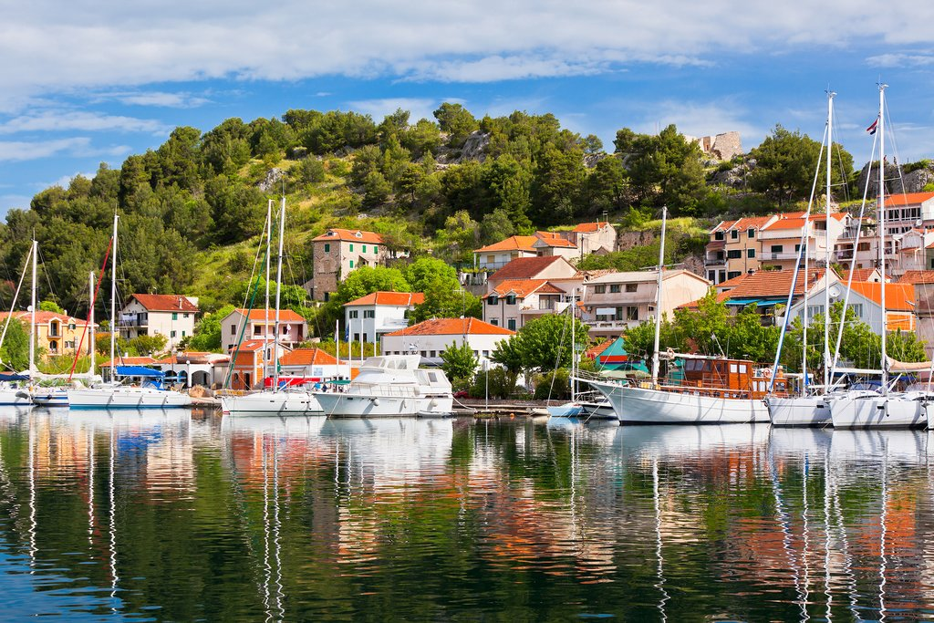 Historic Skradin—gateway to Krka National Park—sits pretty on the Krka river