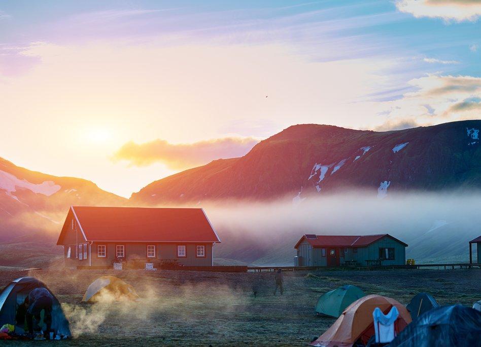 Lake Álftavatn at sunrise