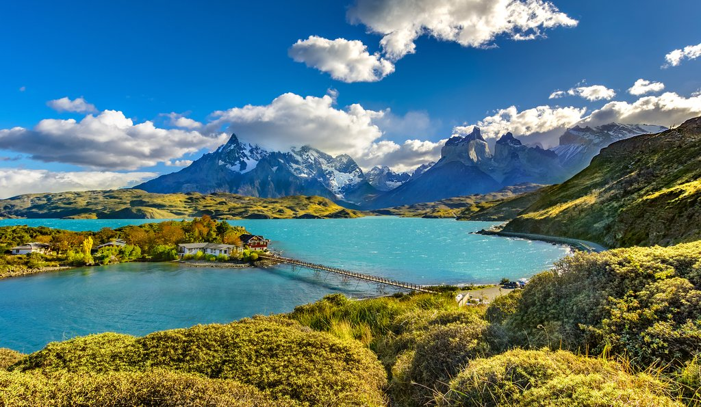 Torrest Del Paine and Pehoe Lake