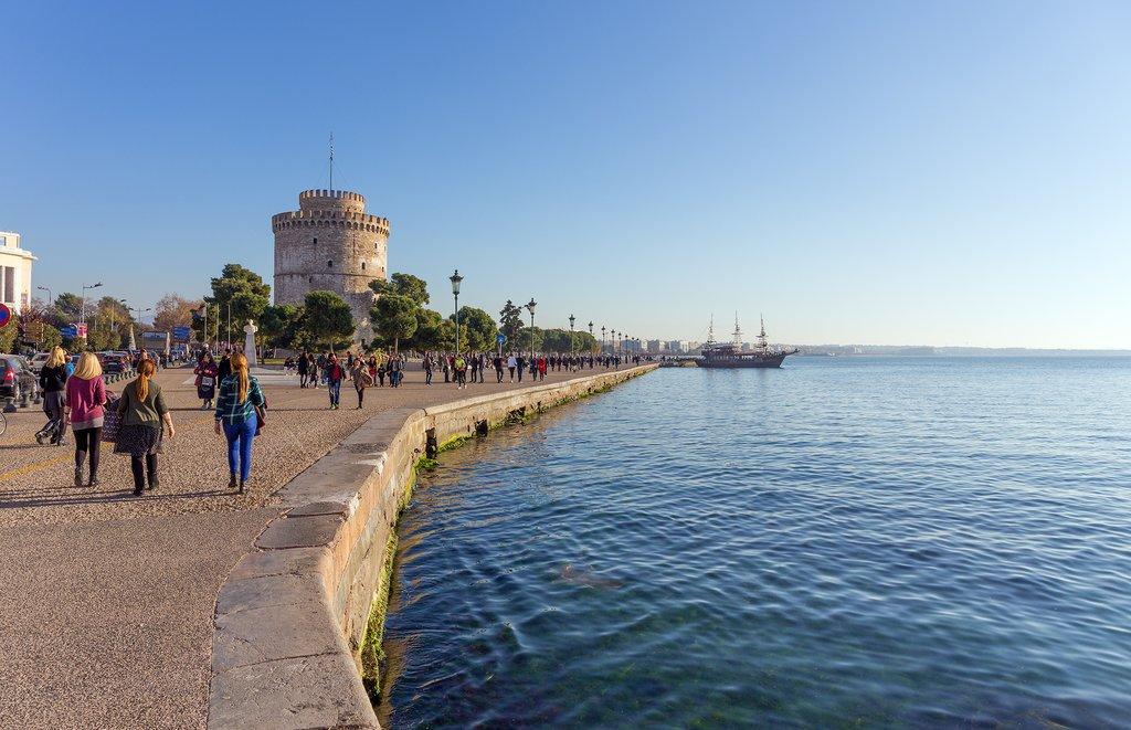 Thessaloniki's promenade and White Tower