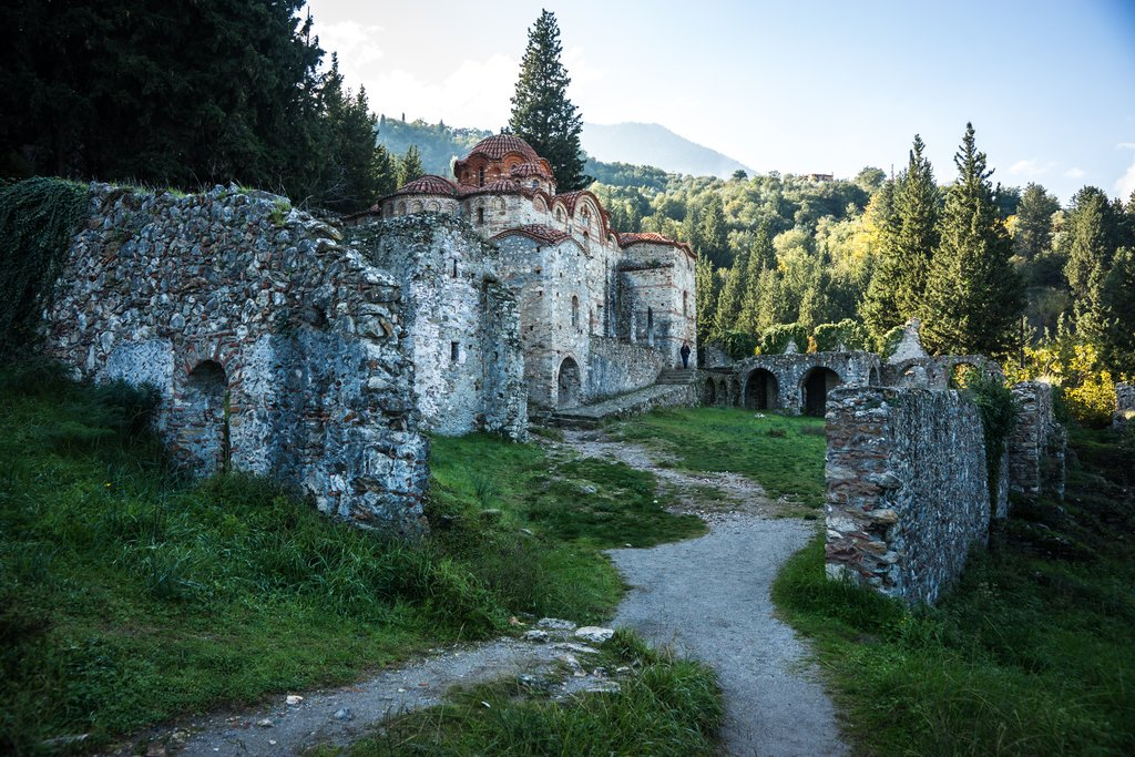 The ruins of the castle at Mystras