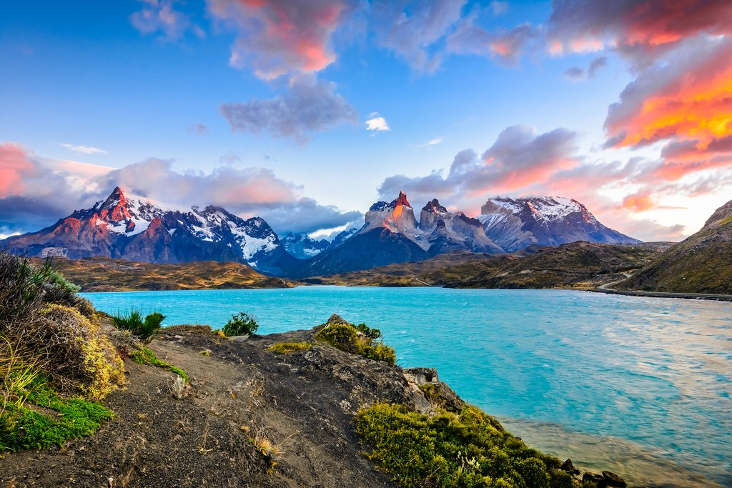 A sunset in Torres del Paine National Park