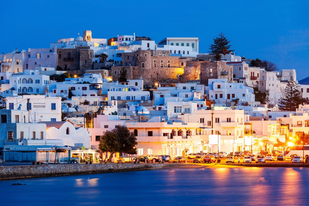 Aerial view of Naxos, Greece