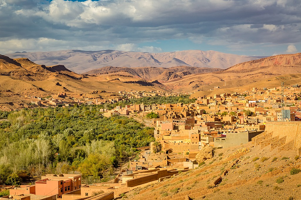 Green oasis in the Dades Valley