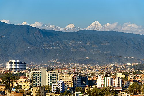 A clear day in the Kathmandu Valley