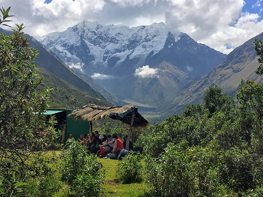 International hikers on the Salkantay Trail